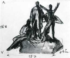 Jan Štursa: Studie k pomníku Svatopluka Čecha, 1918, Praha, Národní galerie